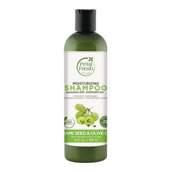 شامپو ارگانیک بدون سولفات مرطوب کننده پتال فرش Petal Fresh Moisturizing Shampoo Grape Seed & Olive Oil