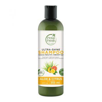 شامپو بدون سولفات پتال فرش درخشان کننده آلوئه ورا و مرکبات Petal Fresh Ultra Shine Shampoo Aloe & Citrus