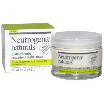 کرم مولتی ویتامین شب نوتروژنا Neutrogena Naturals multi-vitain nourishing night creame