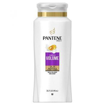 شامپو و نرم کننده آمریکایی شیر ولوم پنتن Pantene Pro-V Sheer Volume 2 in 1 Shampoo & Conditioner