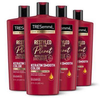 شامپو کراتین ترزمه ضد وز موهای رنگ شده TRESemme Keratin Smooth Color Shampoo