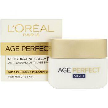کرم آبرسان شب و ضدپیری لورال ایج پرفکت LOreal Age Perfect Re-Hydrating Night Cream