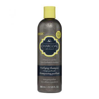 شامپو هاسک زغال تمیز کننده موی فر Hask Charcoal with Citrus Oil Purifying Shampoo