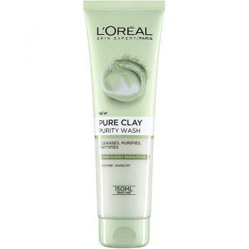 ژل شوینده لورال صورت خاک رس اکالیپتوس فرانسوی L'Oreal Paris Pure Clay Eucalyptus Purity Face Wash