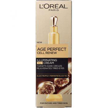 کرم لورال دور چشم ضد چروک سلولی ایج پرفکت LOreal Age Perfect Cell Renew Eye Cream