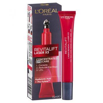 کرم لورال دور چشم رویتالیفت لیزر L'Oreal New Revitalift Laser Precision Eyes Cream