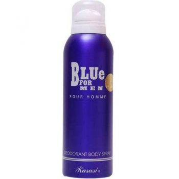 اسپری دئودورانت رصاصی بلو فور من Rasasi Blue For Men Deodrant Body Spray